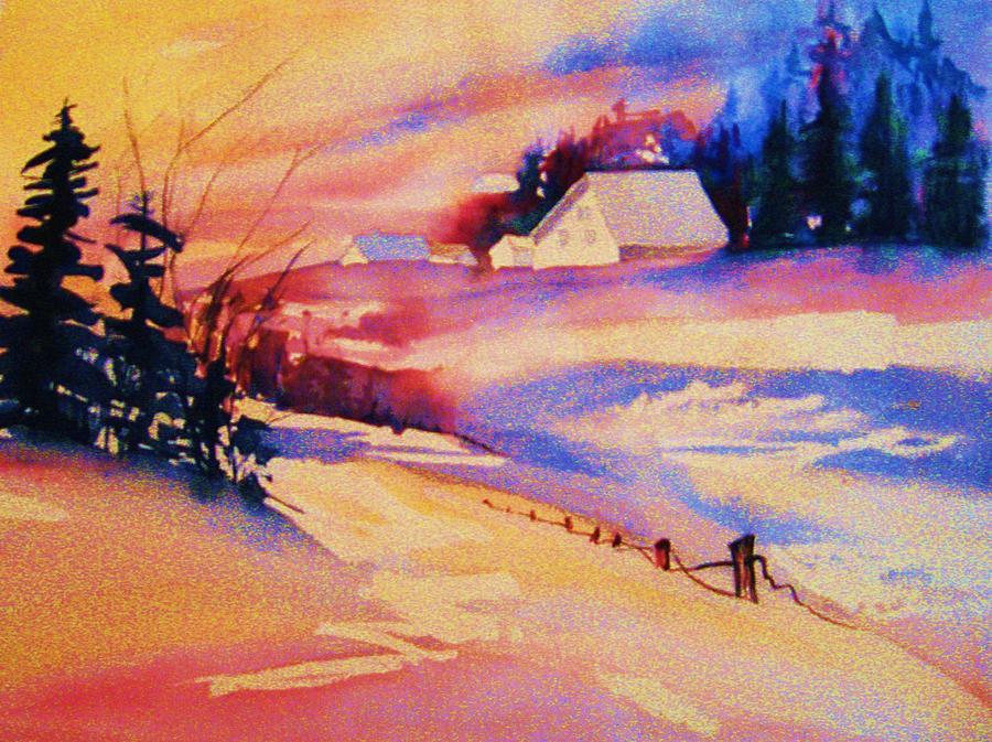 Winter Landscape Painting - Beautiful Serenity by Carole Spandau