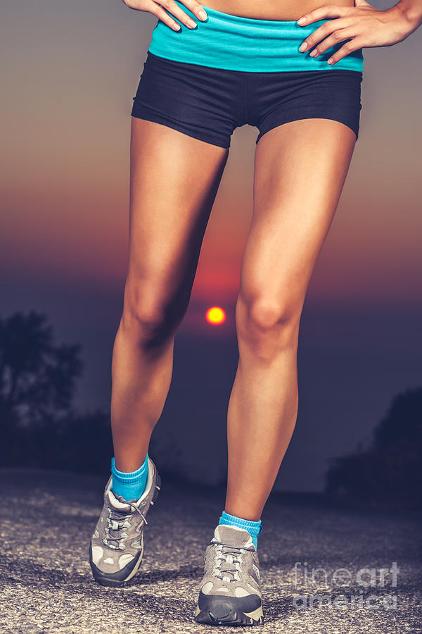 Activities Photograph - Beautiful Sportive Womens Legs by Anna Om