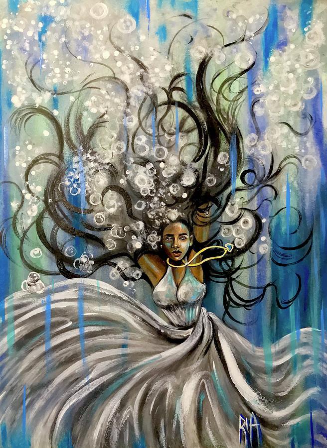 Sad Painting - Beautiful Struggle by Artist RiA