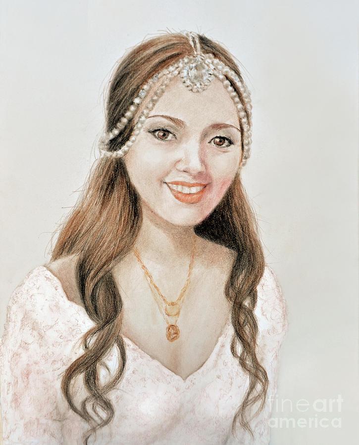 Beautiful Vietnamese Bride Drawing