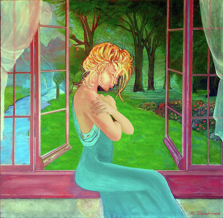Beautiful Woman Painting - Beautiful Woman by Kostas Dendrinos