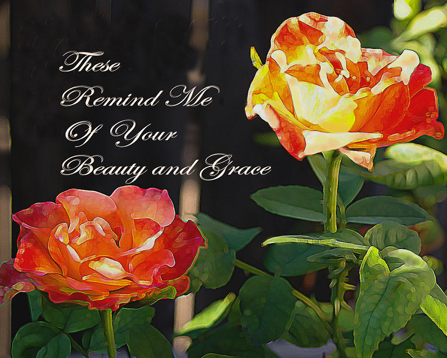 Roses Greeting Card - Beauty And Grace by Sharon Elliott