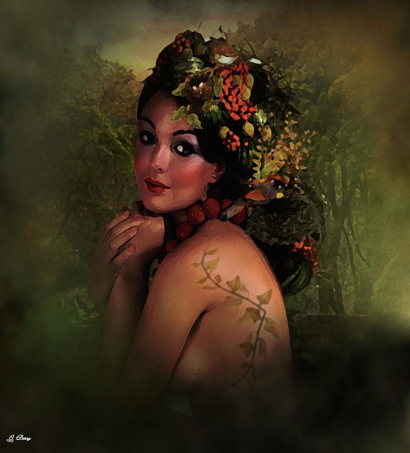 Portraits Photograph - Beauty And Nature by G Berry