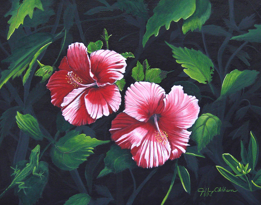 Tropical Flowers Painting - Beauty And The Beast by Jeffrey Oldham
