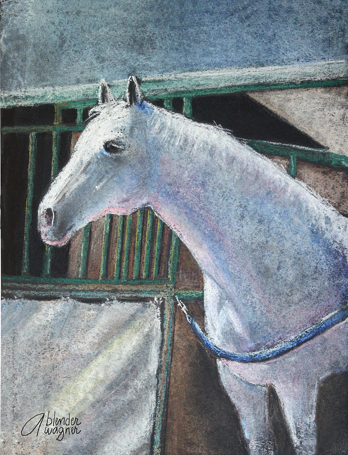 Horse Pastel - Beauty by Arline Wagner