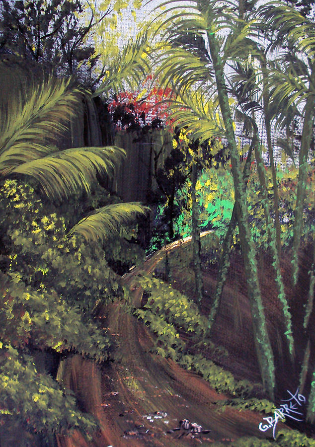 Yunque In Puerto Rico Painting - Beauty Around Us 3 by Gloria E Barreto-Rodriguez