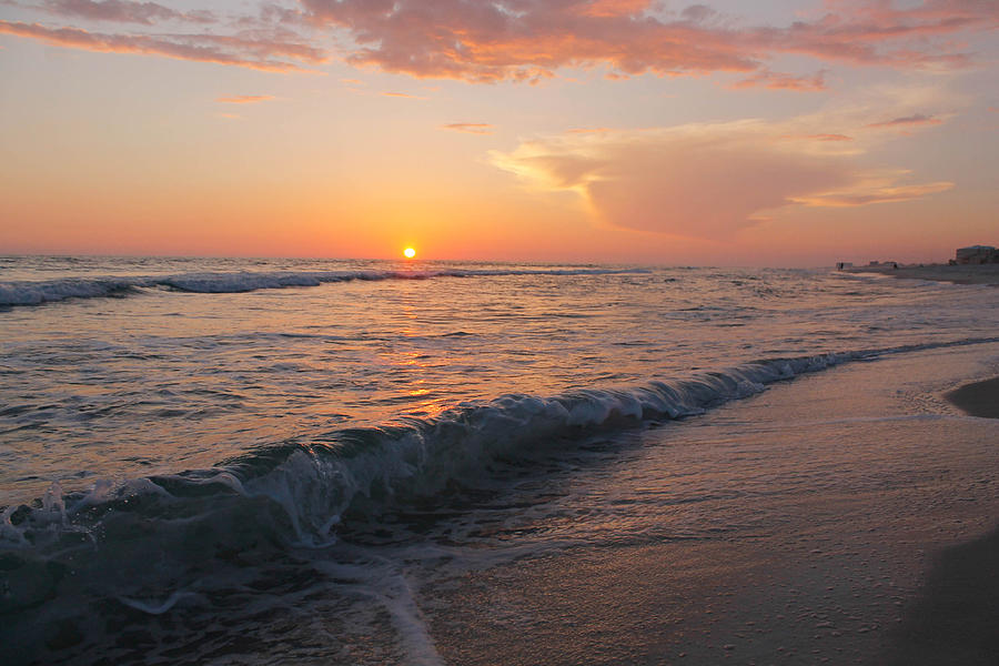 Waves Photograph - Beauty Before The Sun by Jessica Pate
