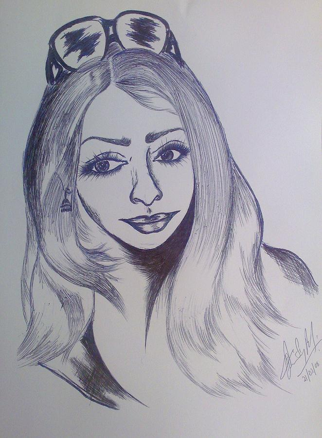 Lady Drawing - Beauty by Bency Baby