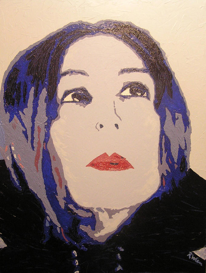 Portrait Painting - Beauty Beyond the Blue by Ricklene Wren