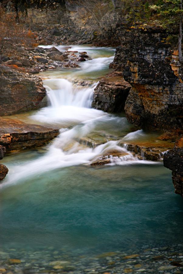Beauty Creek Photograph - Beauty Creek Cascades by Larry Ricker