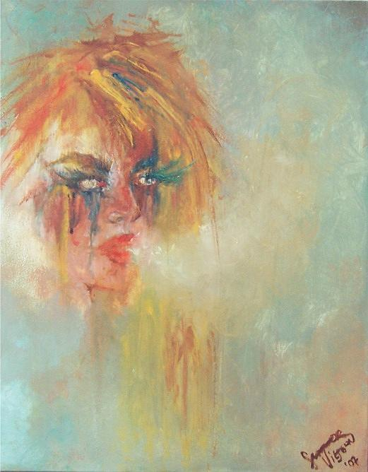 Woman Painting - Beauty In Her Breakdown Commissioned Private Collector by Summer Viljoen