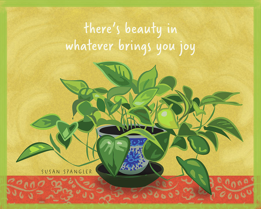 Philodendron Digital Art - Beauty in Joy by Susan Spangler