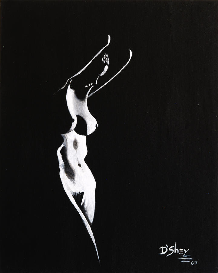 Nude Painting - Beauty In The Shadows 1 by Don MacCarthy