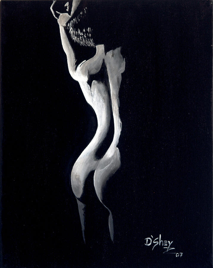 Nude Painting - Beauty In The Shadows 10 by Don MacCarthy