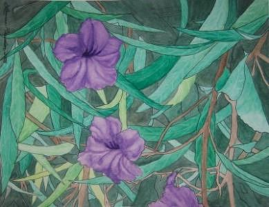 Floral Painting - Beauty In The Vines by Laurie Rawdon