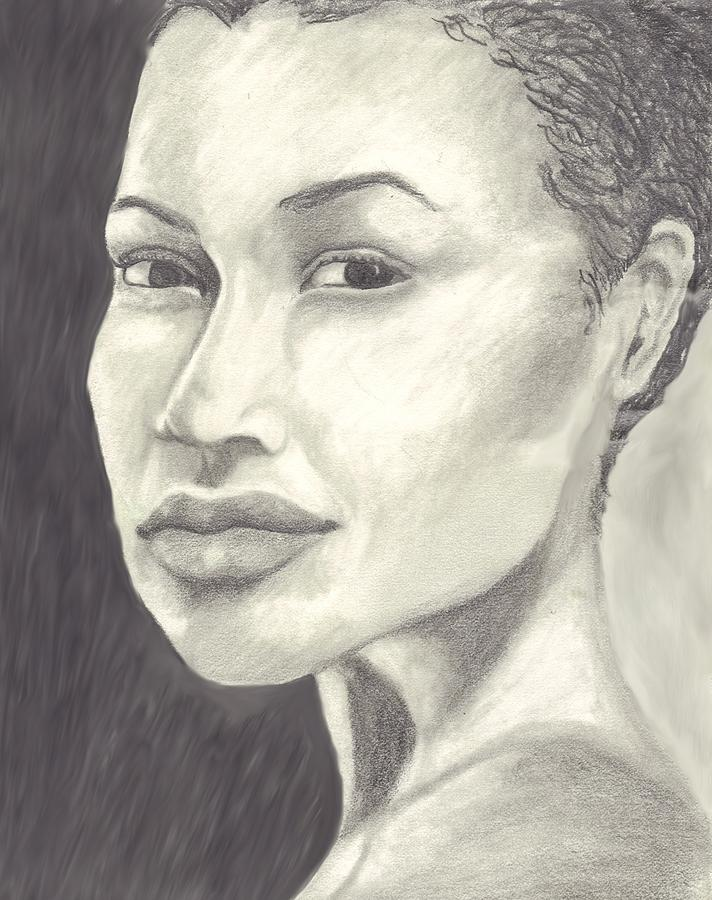 Woman Drawing - Beauty by Jean Haynes