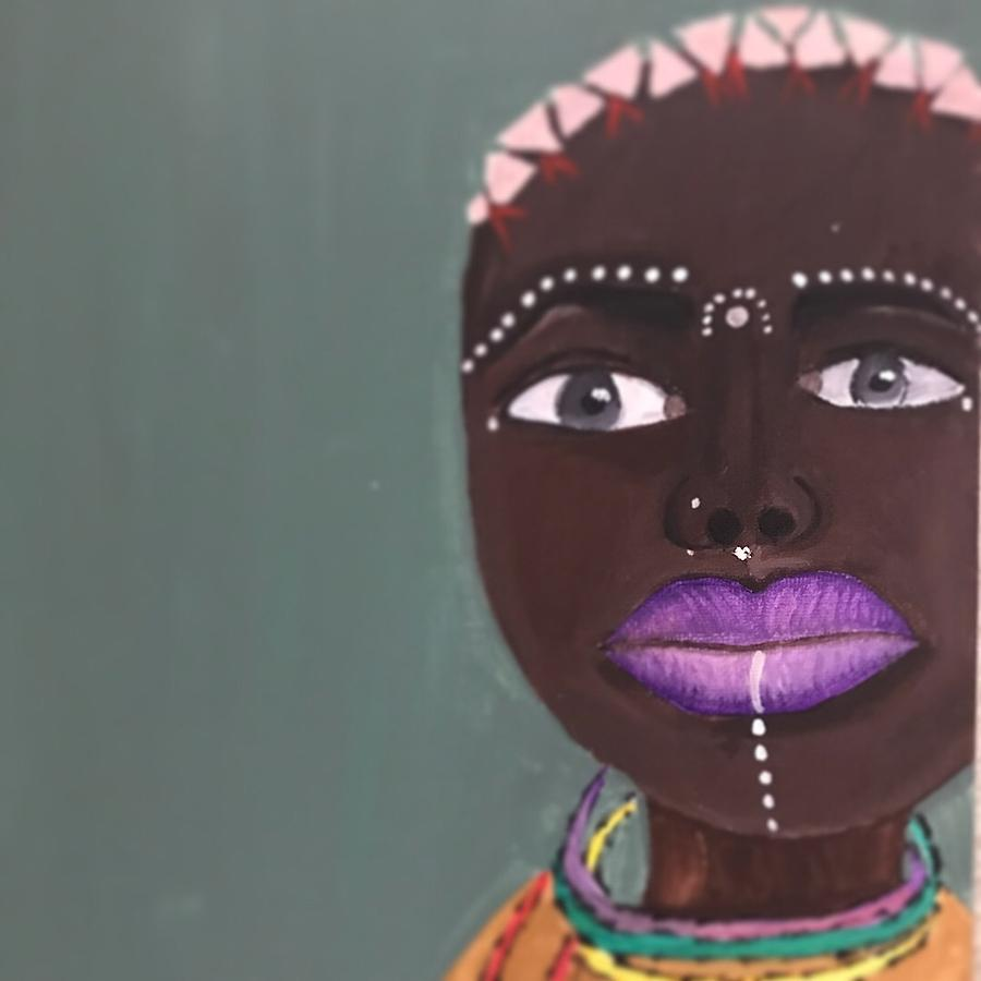 African Women Painting - Beauty by NiKita Hill