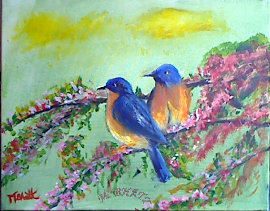 Birds Painting - Beauty Of Birds by M Bhatt