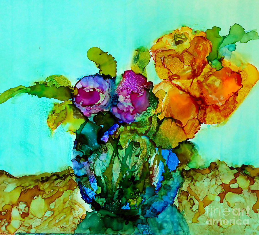 Floral Painting - Beauty Of Flowers by Priti Lathia