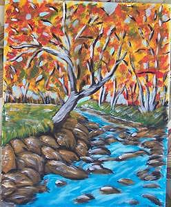 Fall Day Painting - Beauty Of It All by Kathy Young