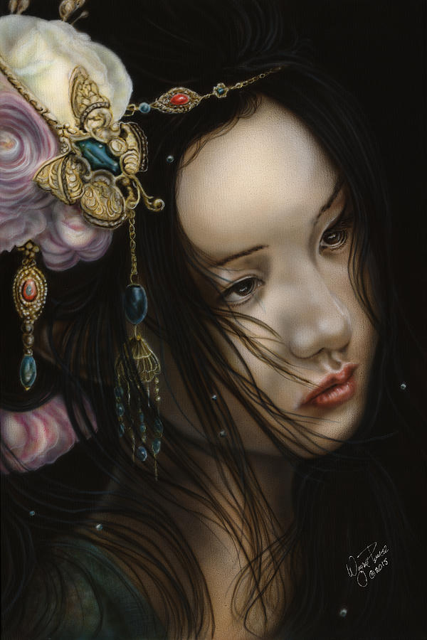 Female Painting - Beauty Of The Orient by Wayne Pruse