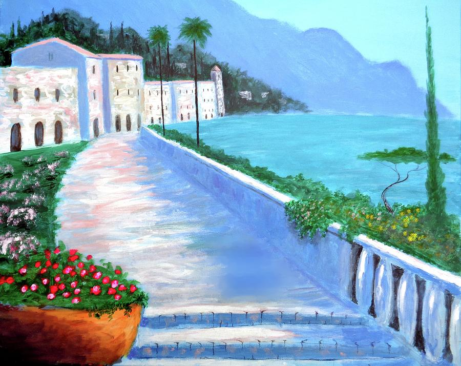 Amalfi Coast Painting - Beauty Of The Riviera by Larry Cirigliano