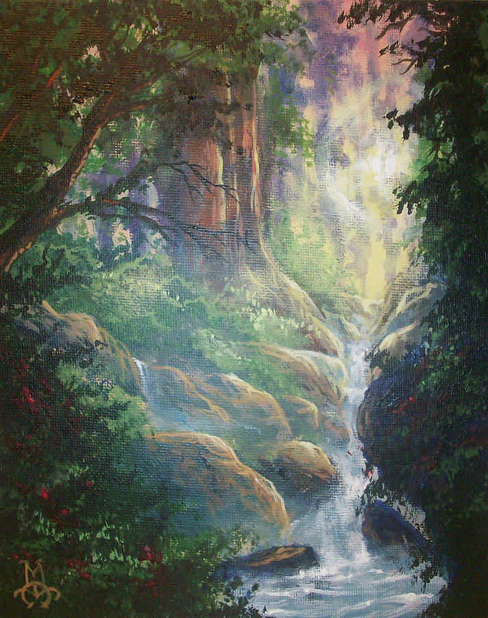 Forest Painting - Beauty Unveiled by Marco Antonio Aguilar