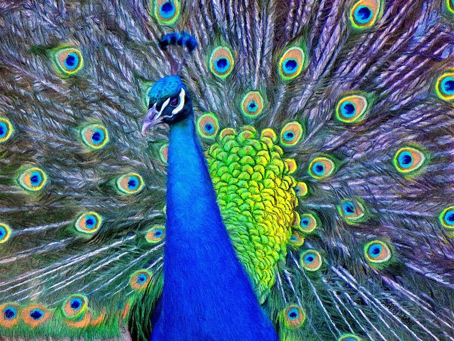 Peacock Painting - Beauty Whatever The Name by Jeff Kolker