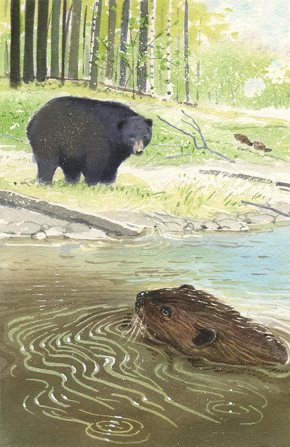 Beaver Painting - Beaver by Denny Bond