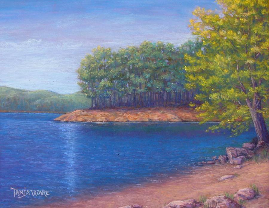 Landscape Painting - Beaver Lake Blue by Tanja Ware