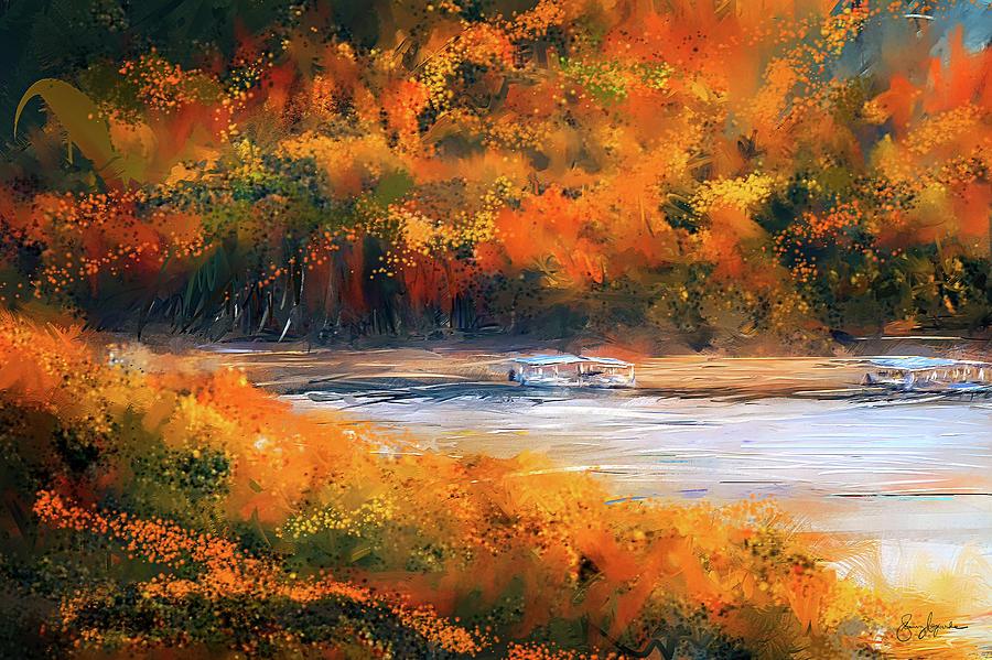 Beaver Lake Impressionist - Beaver Lake Art by Lourry Legarde