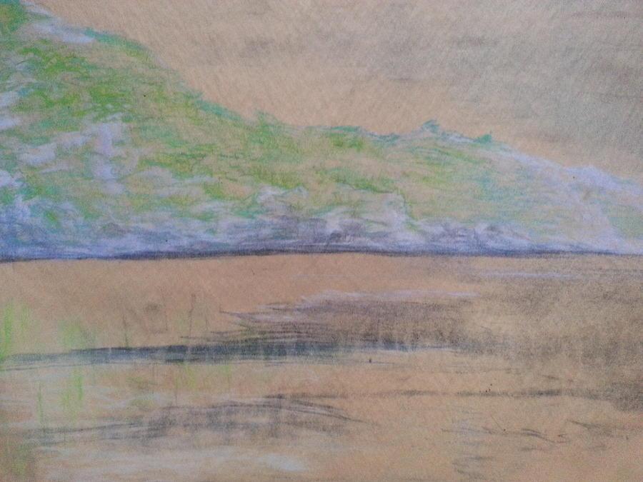 Beaver Pond At Mount Colden Drawing