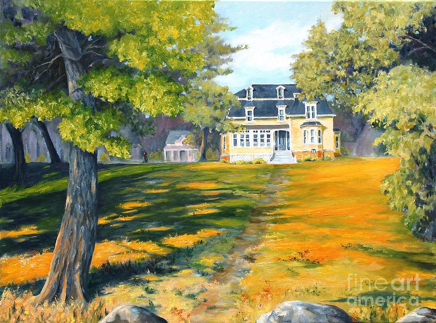 Landscape Painting - Beaverbrook House by Cathleen Richards-Green