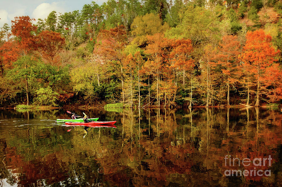 Landscape Photograph - Beavers Bend Canoeing by Tamyra Ayles