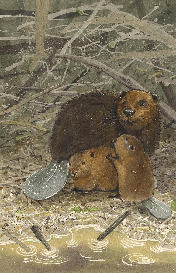 Beavers Painting - Beavers by Denny Bond