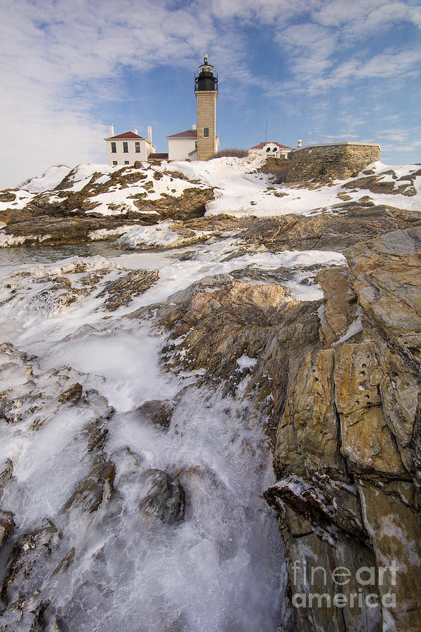 Awesome Beavertail Icebound New England Lighthouse In Winter By Jg Coleman Download Free Architecture Designs Scobabritishbridgeorg