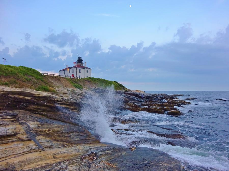Lighthouse Photograph - Beavertrail Lighthouse At Dusk by Red Cross