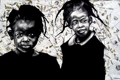 Bebe And Cece Mixed Media by Chester Elmore