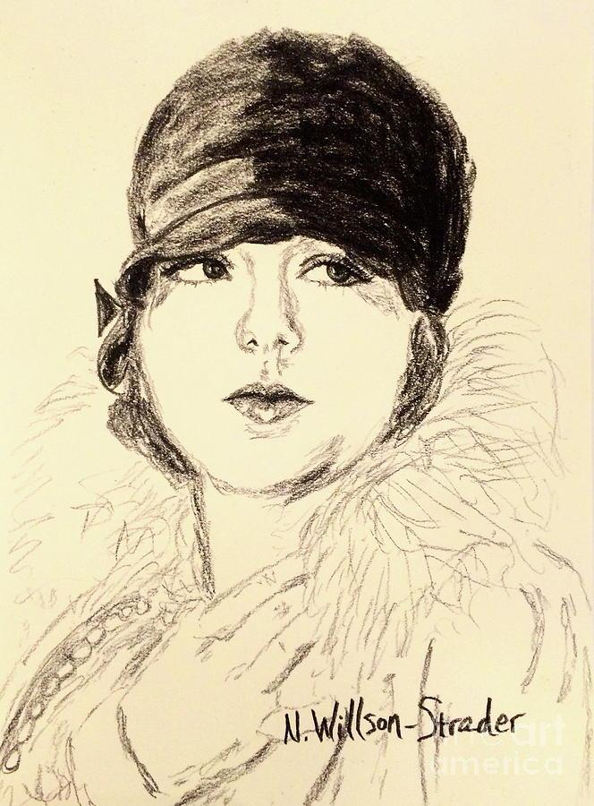 Bebe Drawing - Bebe, Cloche by N Willson-Strader