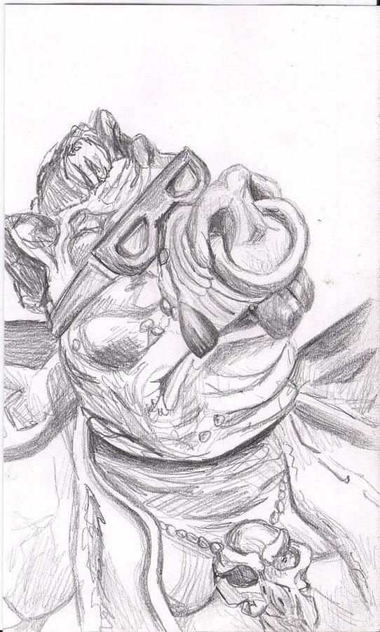Bebop Drawing - Bebop by Marianne Devine