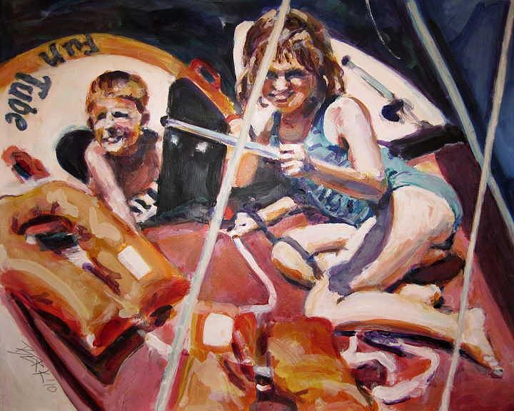 2010 Painting - Becalmed by Chuck Berk