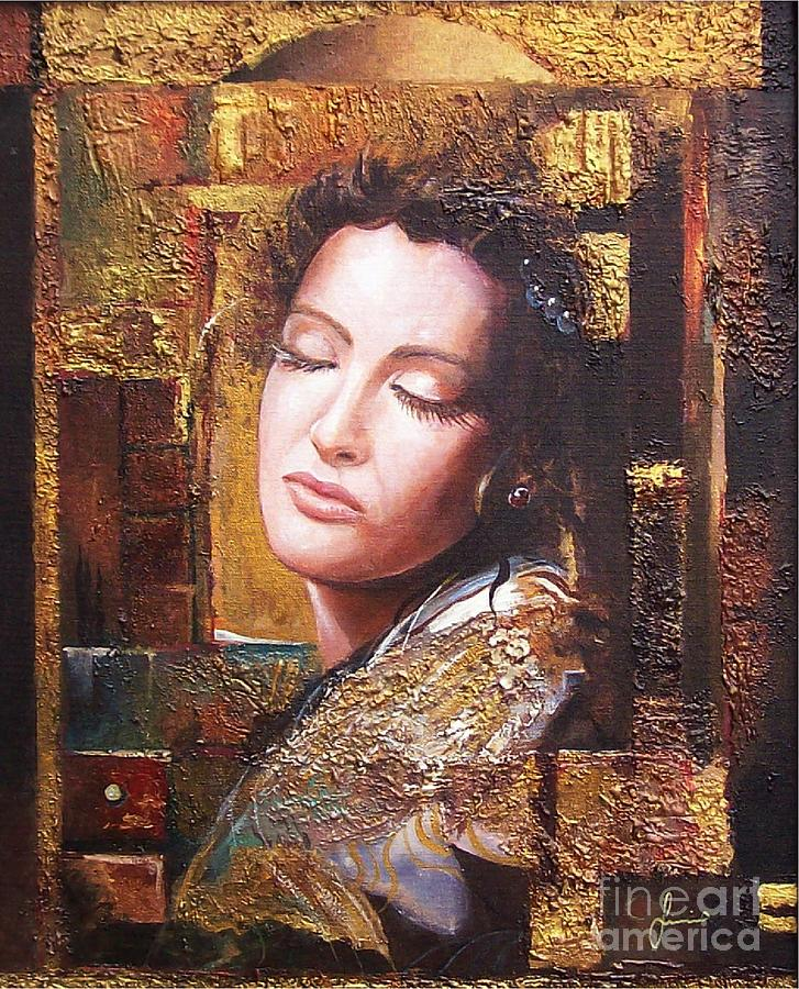 Female Portrait Painting - Because You Are Beautiful by Sinisa Saratlic