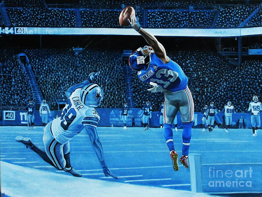 Odell Beckham Jr Painting - Beckham Legendary by Anthony Young