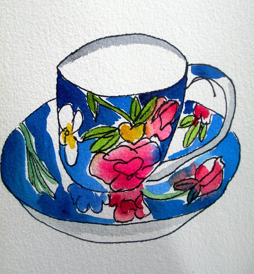 Teacup Painting - Beckys Teacup by Sacha Grossel