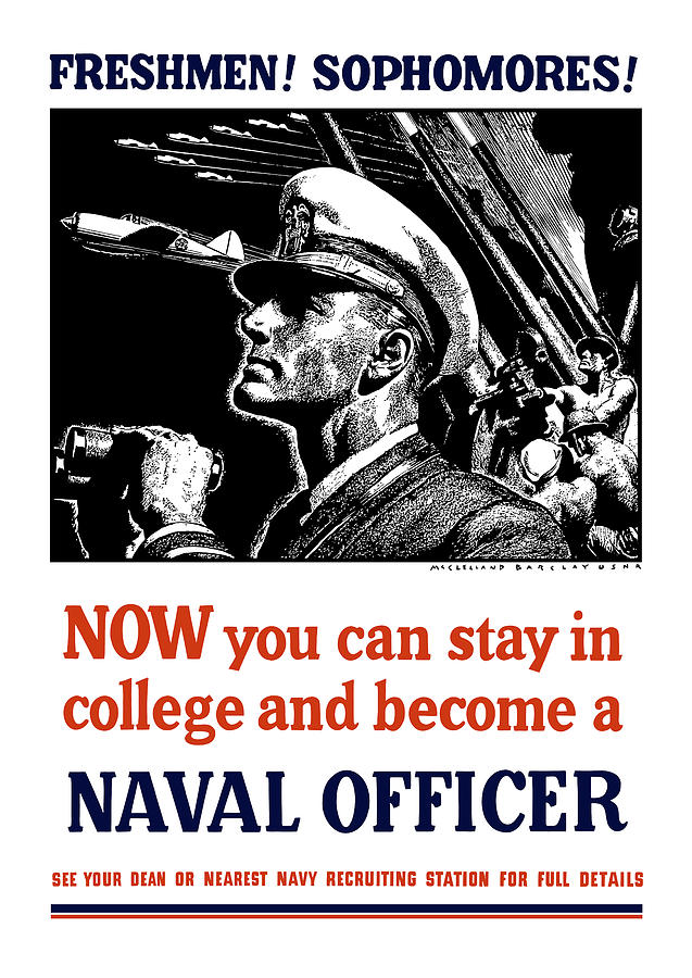 Navy Mixed Media - Become A Naval Officer by War Is Hell Store