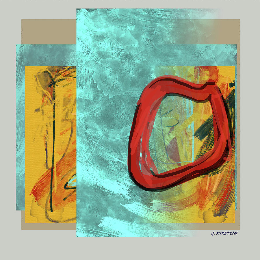 Abstract Digital Art - Becoming Visible by Janis Kirstein