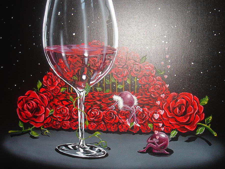 Bed Of Roses Painting By Michael Godard