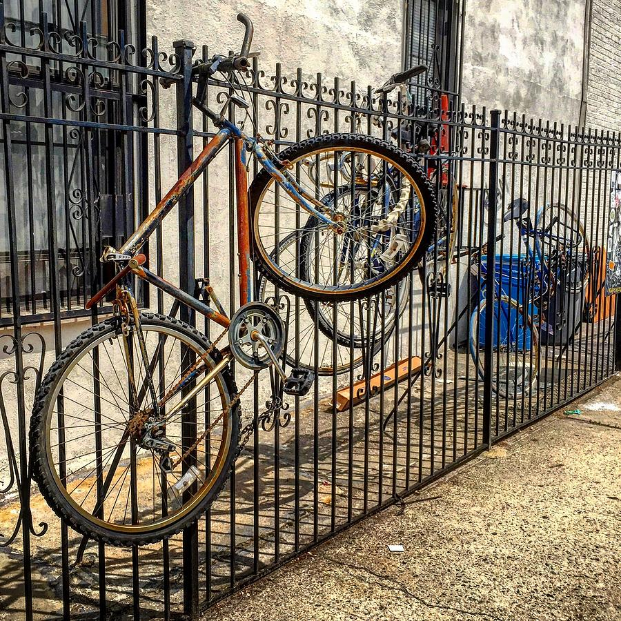 Bike Photograph - Bed-stuy Bike Rack by Joseph Mari