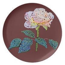 bedazzed rose plate by R  Allen Swezey