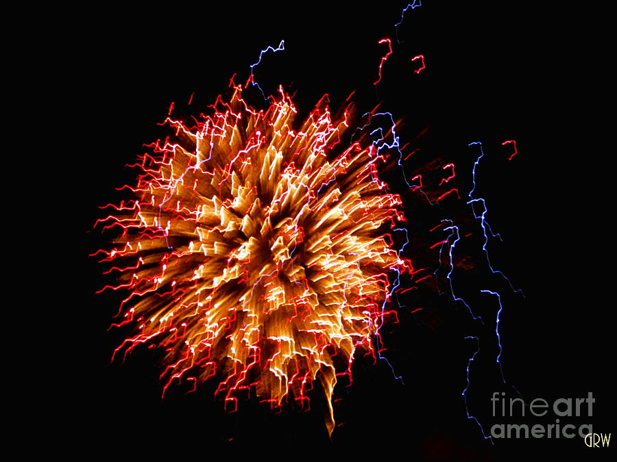 Fireworks Photograph - Bedazzle by Gina Welch